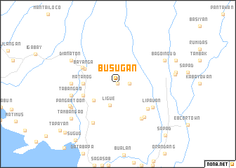 map of Busugan