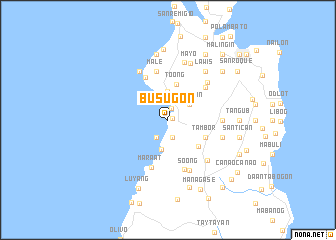 map of Busugon