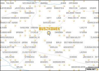map of Buszkówek