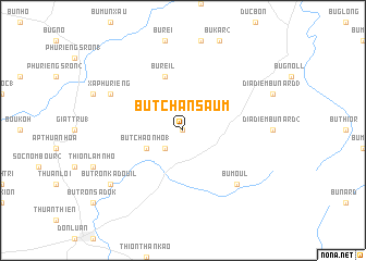 map of Bu Tchan Saum