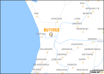 map of Būtingė