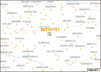 map of Butivitsy
