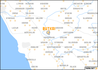 map of Butkai