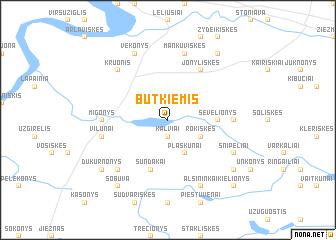 map of Būtkiemis