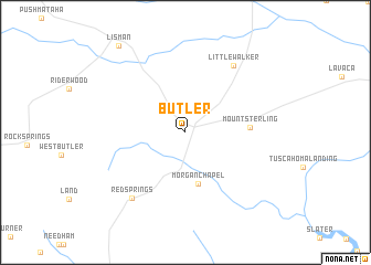 map of Butler
