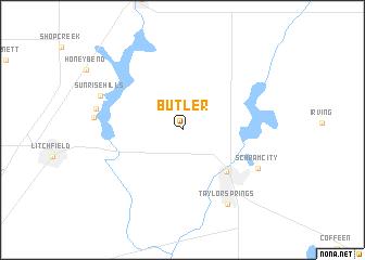 map of Butler