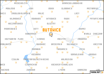 map of Butowice