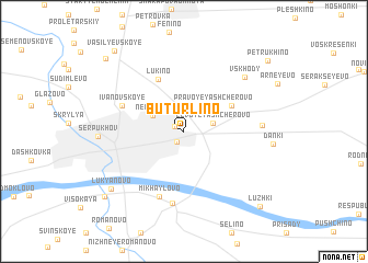 map of Buturlino