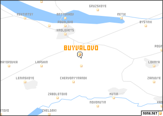 map of Buyvalovo