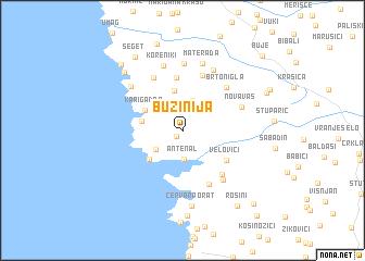 map of Bužinija