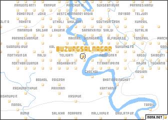 map of Buzurg Sālnagar