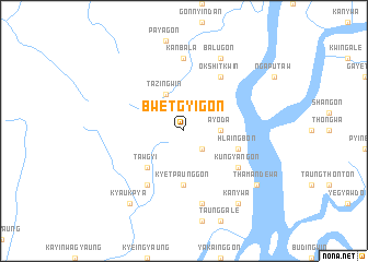 map of Bwetgyigon