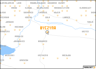 map of Byczyna