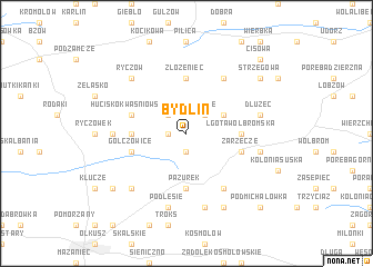 map of Bydlin