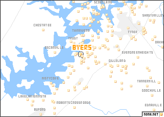 map of Byers