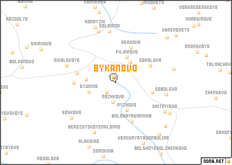 map of Bykanovo