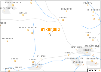 map of Bykanovo