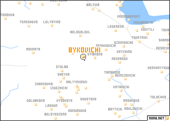 map of Bykovichi