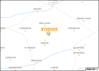 map of Bykovka