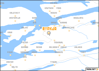 map of Byrkja