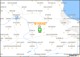 map of Bysewo