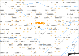 map of Bystrojowice