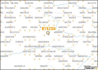 map of Byszów
