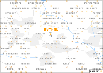 map of Bytków