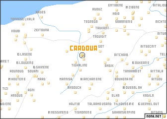 map of Caadoua