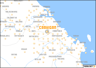 map of Caawigan