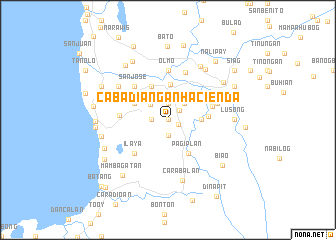 map of Cabadiangan Hacienda