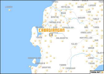 map of Cabadiangan