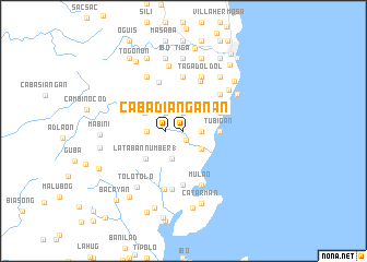 map of Cabadiangan