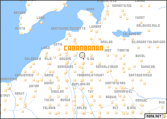map of Cabanbanan