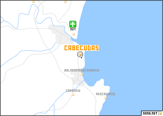 map of Cabeçudas