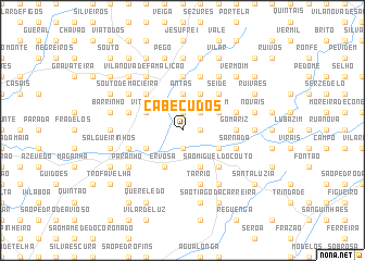 map of Cabeçudos