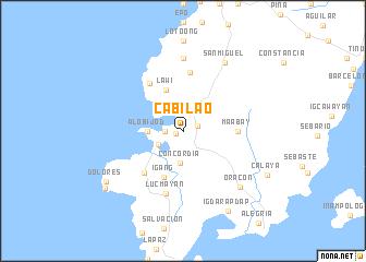 map of Cabilao
