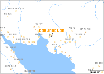 map of Cabungalan
