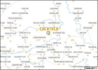 map of Cacateco