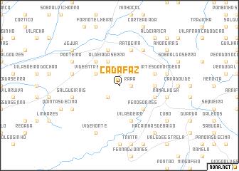 map of Cadafaz
