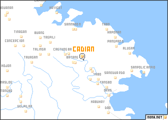 map of Cadian
