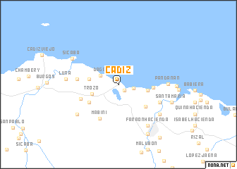 map of Cadiz