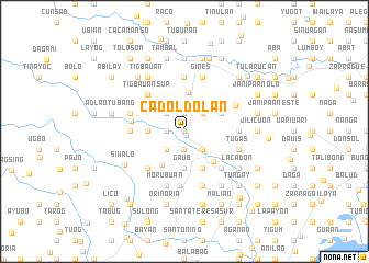 map of Cadoldolan