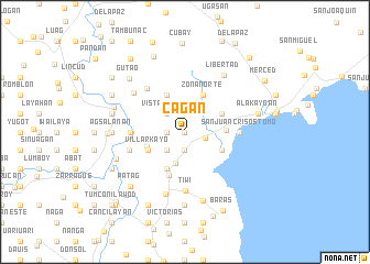 map of Cag-an