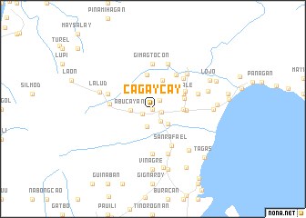 map of Cagaycay