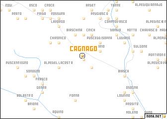 map of Cagnago
