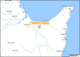 map of Cagoncogan