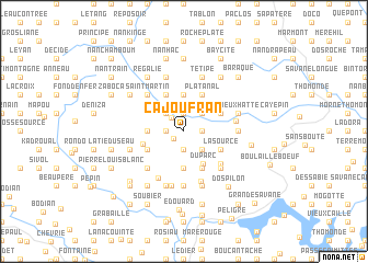 map of Ca Joufran