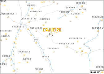 map of Cajueiro