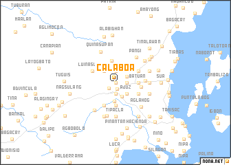 map of Calaboa